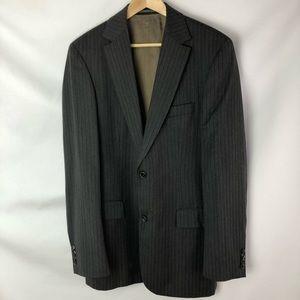 Hugo Boss Grey striped blazer Super 100 Wool Sz M
